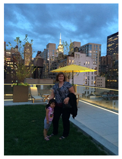 Image of our guests Teresa and her Granddaughter Sophia.